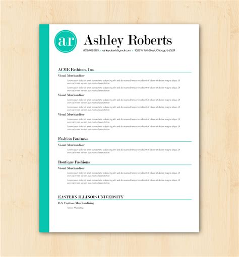 Resume Layout Word Resume Template Cv Template The By Phdpress