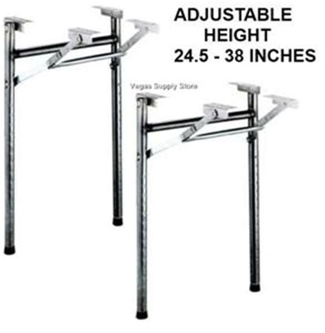 Folding Metal Table Legs Table Legs Black Metal Folding Adjustable Pkg 2 50 0034 Ebay