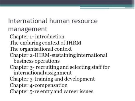 Mba Human Resource Management International by International Human Resource Management Authorstream