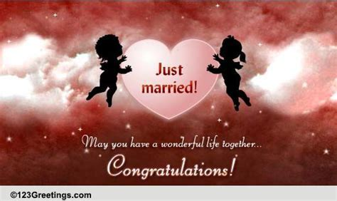 Wishes For A Just Married Couple  Free Just Married