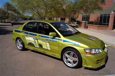mitsubishi lancer evolution fast and furious mitsubishi evo vii in quot 2 fast 2 furious quot for sale on ebay