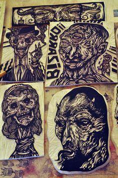 Merlyn Batik sugar skull block print by derrick castle auf dribbble