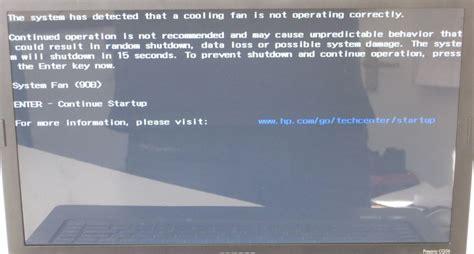 hp laptop fan not working how to fix system fan 90b error on a hp compaq presario