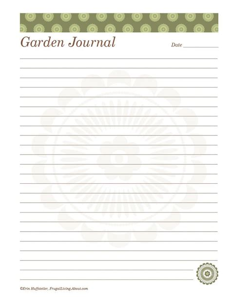 printable garden journal free printable garden notebook