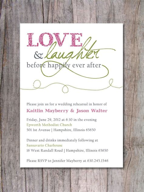 invitations for a wedding after rehearsal dinner invitation happily after mid summers dinner