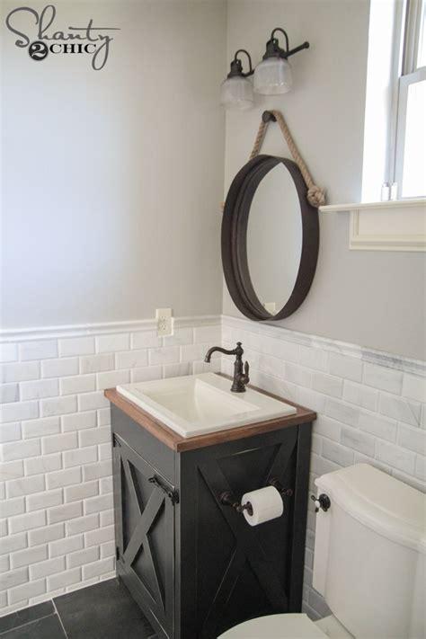 diy farmhouse bathroom vanity shanty  chic