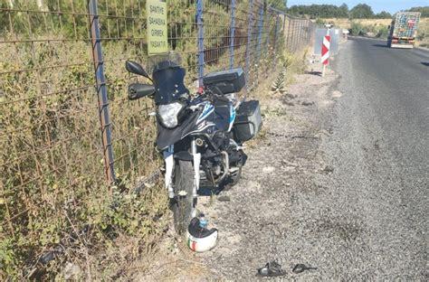 ayvacikta motosiklet kazasi  yarali canakkale haberleri