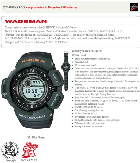 G Shock Dw 8900 Wademan Original by G Shock Dw 9800nkj 3jr Special Edition Wademan