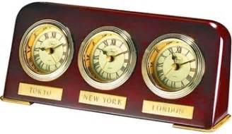 three time zone wood clock 3 timezone clock world time