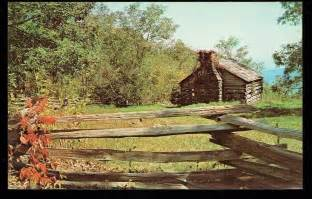 vintage postcard mountain cabin blue ridge parkway