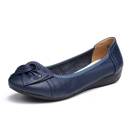 flat leather shoes handmade genuine leather ballet flat shoes