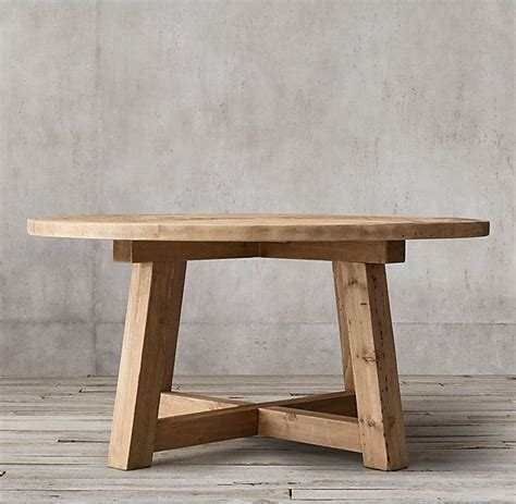 Oak Beam Dining Table Rh S Salvaged Wood Beam Dining Table Our Salvaged Beam Wood Tables Are Handcrafted Of