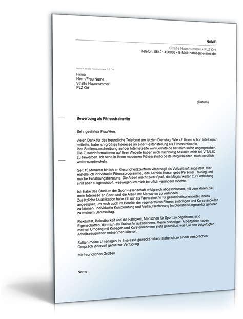 Bewerbungsschreiben Ausbildung Pflegehelfer Anschreiben Bewerbung Fitnesstrainer Fitnesstrainerin De Bewerbung