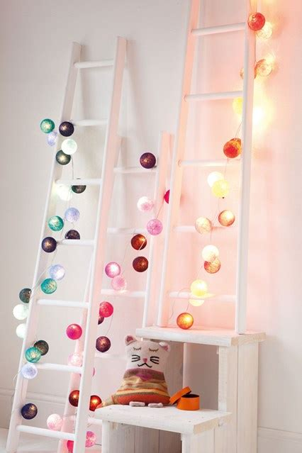 ways  decorate  bedroom  fairy lights wave
