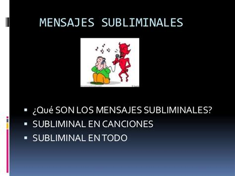 mensajes subliminales canciones mensajes subliminales