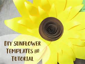 The Upholstery Shoppe Giant Paper Sunflower Template Patterns And Tutorial Svg
