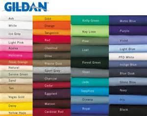 gildan color swatch gildan colors