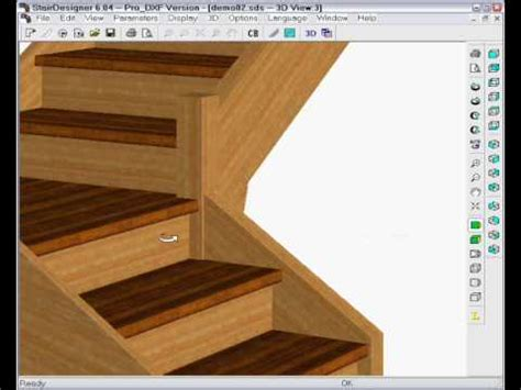 youtube stair layout stairdesigner change a straight stair to a quart turn