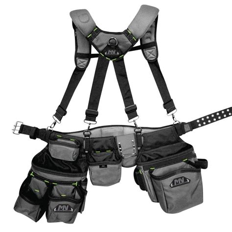 Framers Suspension Rig Tool Storage Work Belt Heavy Duty Site Pock Mn Black Label Ballistic Tool Rig With Suspenders 75 67