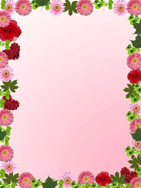 design flower border simple flower frame clipart best