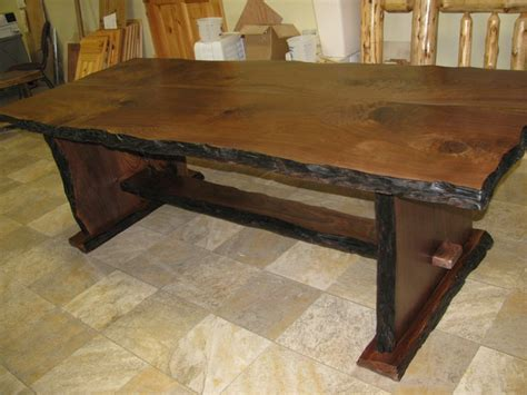 walnut slab dining table rustic dining tables other