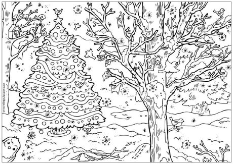 christmas tree coloring page for adults christmas coloring pages for adults 2018 dr odd