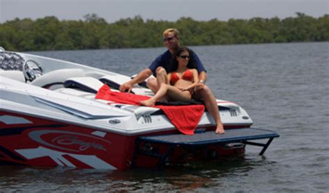 baja boat swim platform baja 30 outlaw 2011 2011 reviews performance compare