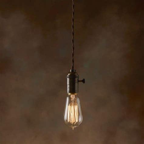 edison bulb hanging light squirrel hang