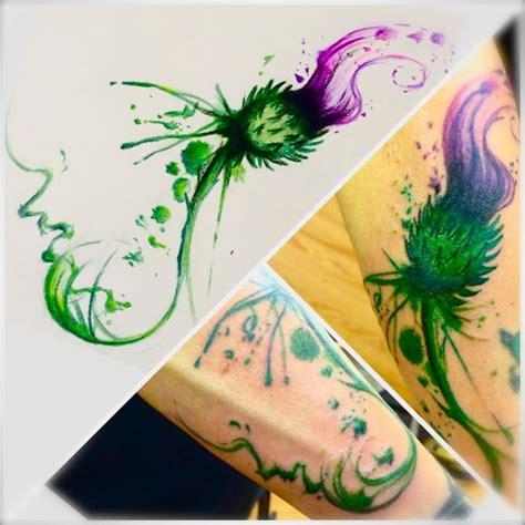 thistle tattoo pinterest deviantart more like thistle tattoo design by dazzbishop