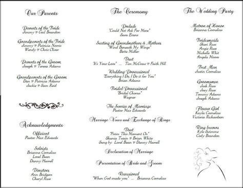 layout wedding program program layout wedding pinterest wedding programs