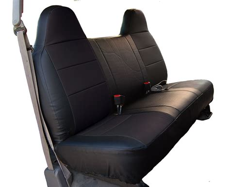 leather bench seat cover ford f 250 350 black leather like custom made fit front