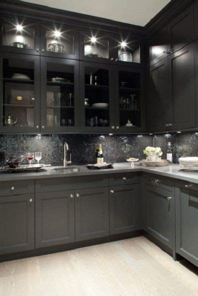 Black Kitchen Cabinets Pinterest Black Kitchen Cabinets Backsplash Kitchen Remodel Ideas Pinterest
