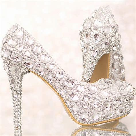 Silver Wedding Shoes For by Wedding Shoes Silver Heels Fs Heel