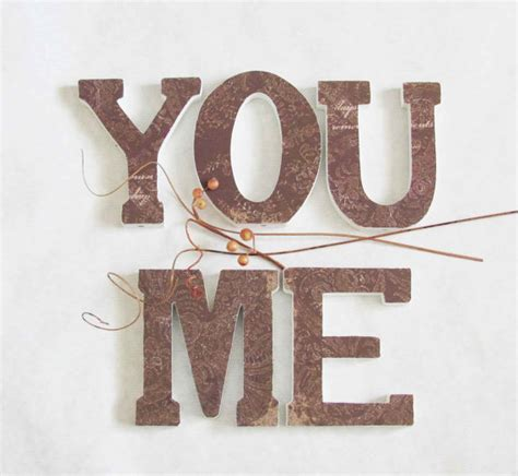 Shelf Letters Decoration by Letters You And Me Wood Brown Shelf Or Wall Decor