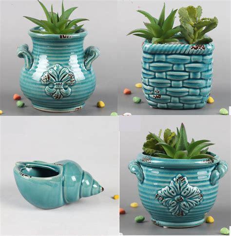 indoor plant pot 4pcs ceramic planter plant pot indoor outdoor succulent