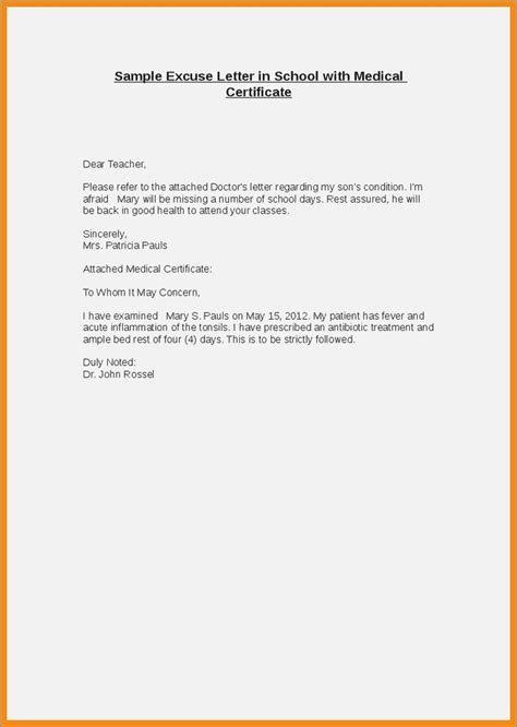 application letter for beed excuse letter for school for being absent premierme