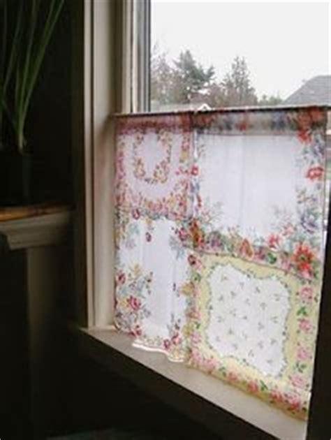 great drapes loving here love vintage handkerchief curtains how cute find hankies