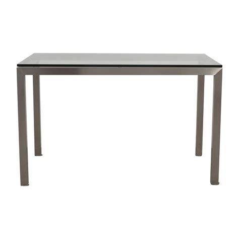 crate and barrel dining bench 31 off crate barrel crate barrel glass and
