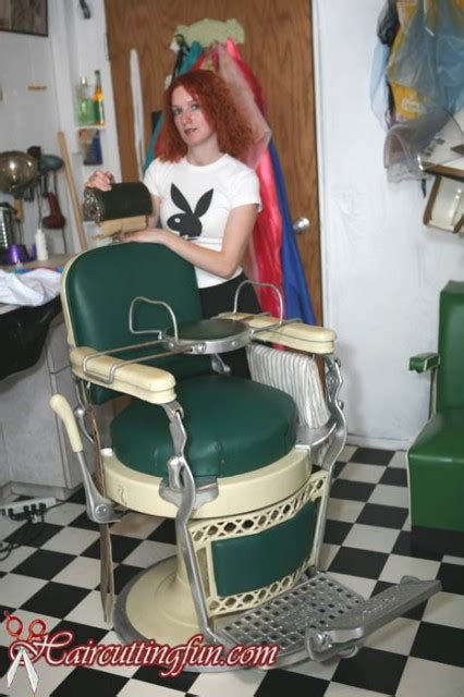 haircut cape story barber chair perms