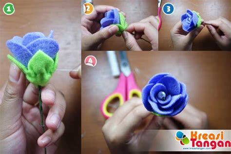 cara membuat kerajinan tangan simple 615 best images about felt flower on pinterest brooches