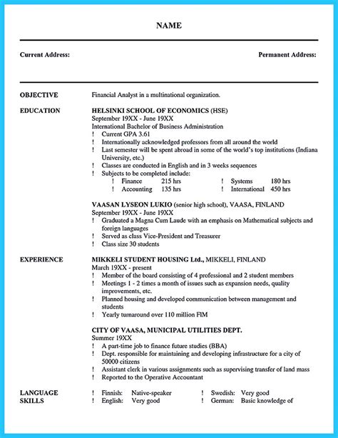 Resume Cover Letter Business Analyst Cool Credit Analyst Resume Exle From Professional
