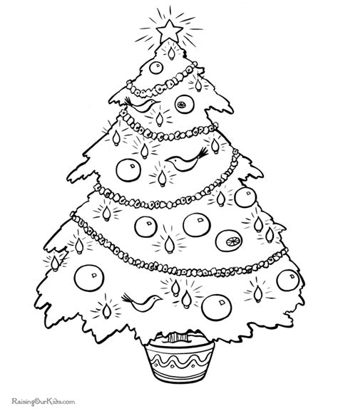 free printable christmas tree pages christmas tree coloring pages 002