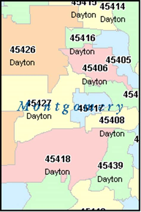 montgomery county zip code map montgomery county ohio digital zip code map