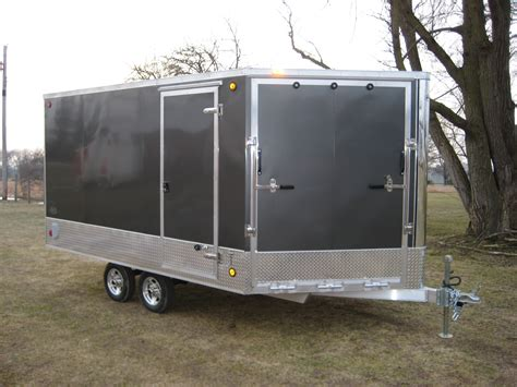 series trailer aluminum snowmobile trailer snowfire series rnr trailers