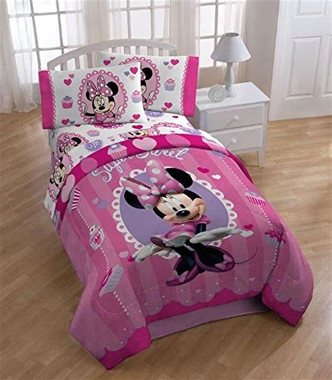 minnie mouse comforter set twin 4pc disney minnie mouse twin bedding set sweet treats