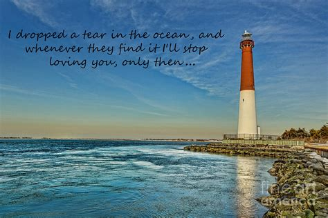 barnegat lighthouse inspirational quote photograph by lee