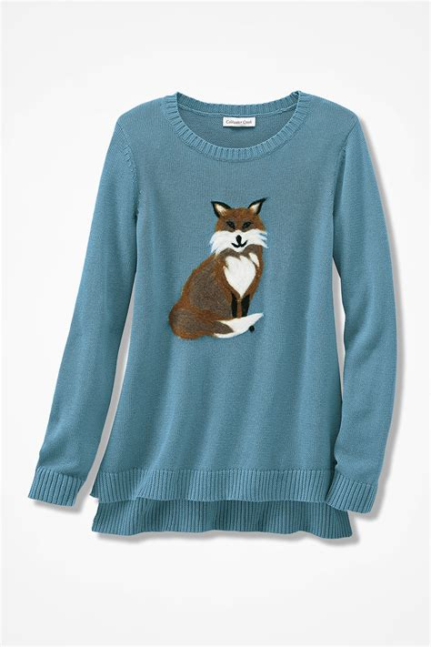 Fox Sweater frieda the fox sweater coldwater creek