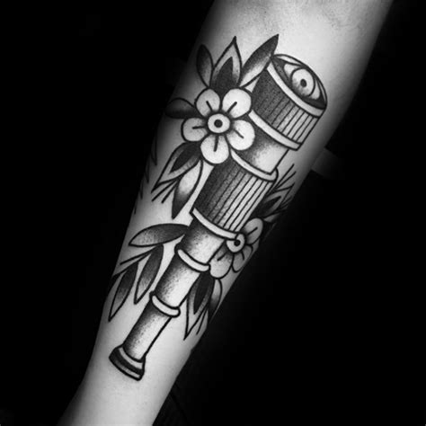 tattoo trends ankle band old school traditional flower 40 telescope tattoo designs for men stargazing ink ideas
