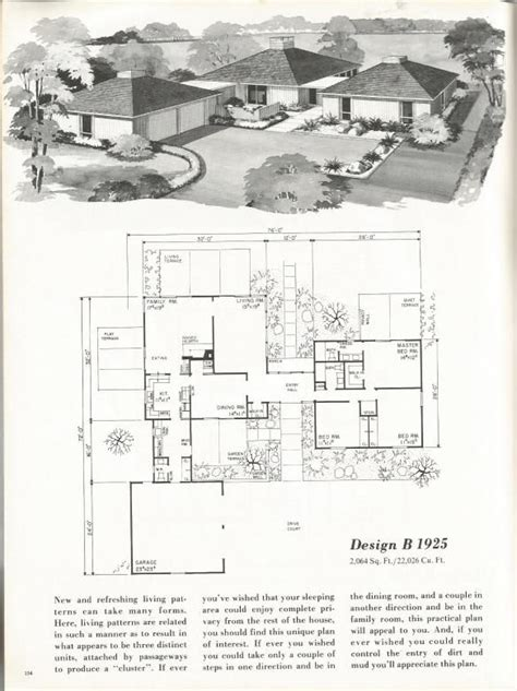 1960s house plans vintage house plans mid century homes 1960s homes architecture pinterest house