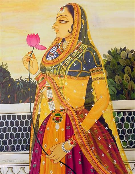Top Design Inspiration Sites by 45 Beautiful Rajasthani Paintings Traditional Indian